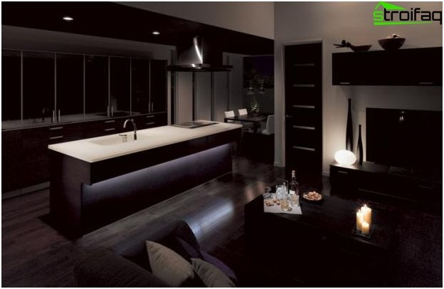 Cocina-sala de diseño - 18