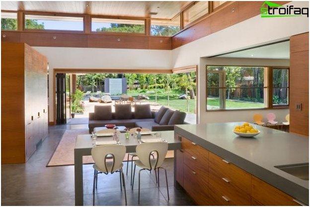 Diseño de cocina-sala de estar - 19