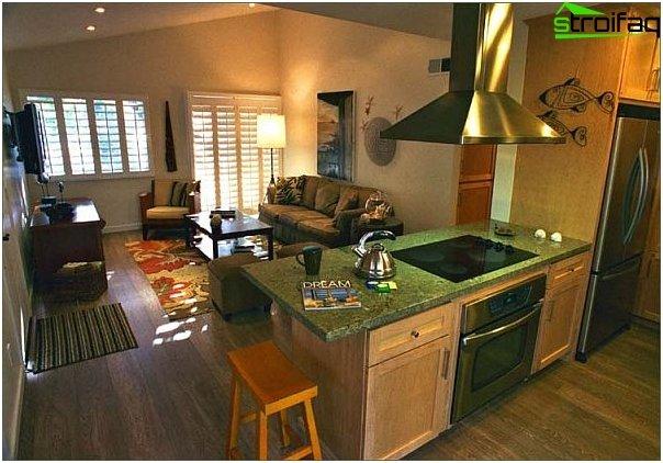 Diseño de cocina-sala de estar - 20
