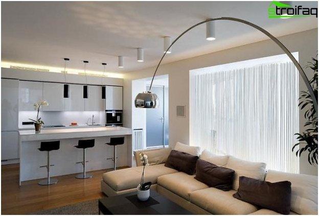 Diseño de cocina-sala de estar - 21