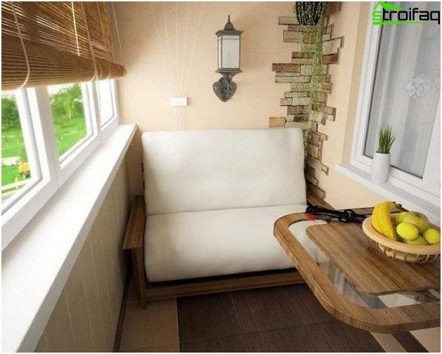 تخطيط المطبخ 10 متر مربع مع شرفة - الصورة 4