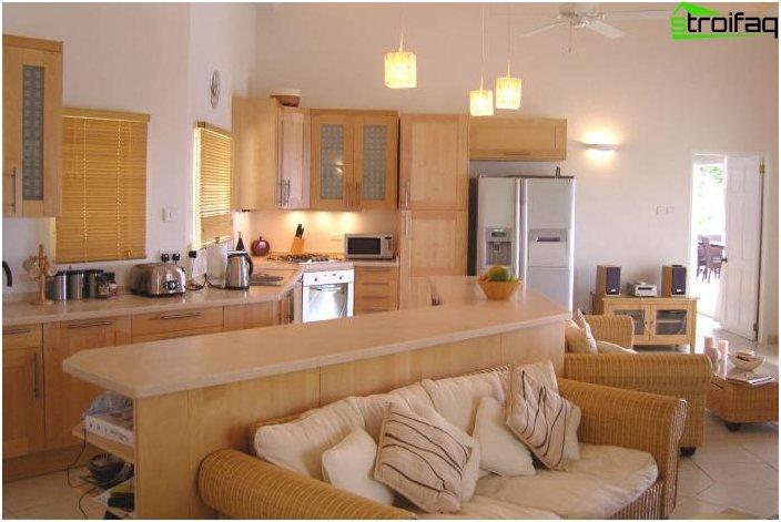 Дизайн на кухня и хол - снимка 1
