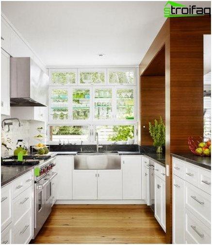 تخطيط المطبخ 10 متر مربع - الصورة 10