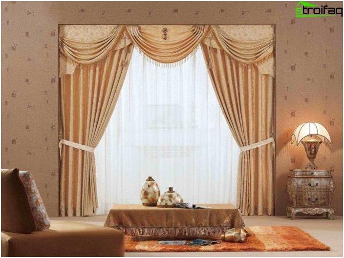 Classical design of curtains - photo 1