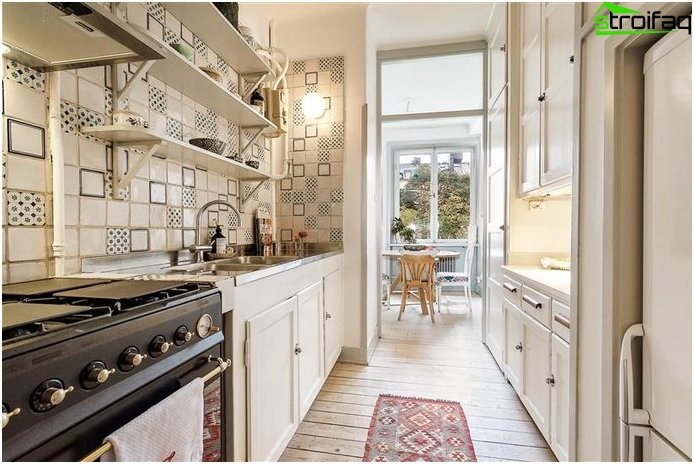 Kitchen layout 10 sq m with balcony - photo 5
