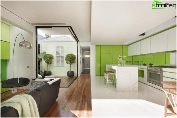 Дизайн на кухнята-хол - снимка 9