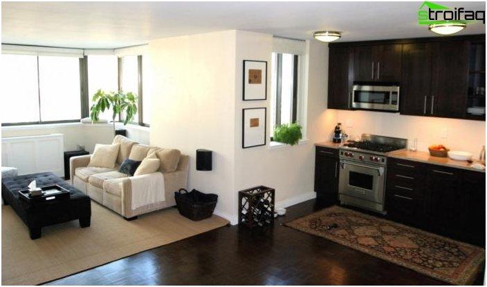 Diseño de la cocina-sala de estar - foto 15