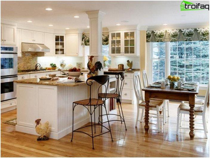 Diseño de la cocina-sala de estar - foto 16