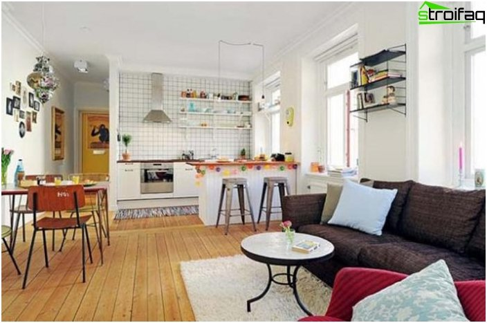 Diseño de la cocina-sala de estar - foto 20