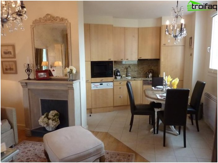 Diseño de la cocina-sala de estar - foto 22