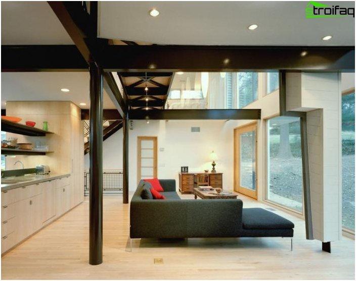 Дизайн на кухнята-хол - снимка 23