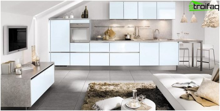 Дизайн на кухнята-хол - снимка 24