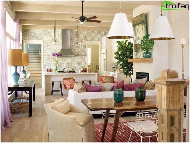 Дизайн на кухня-хол 50