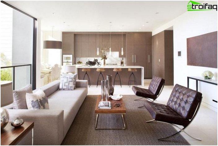 Дизайн на кухня-хол 51
