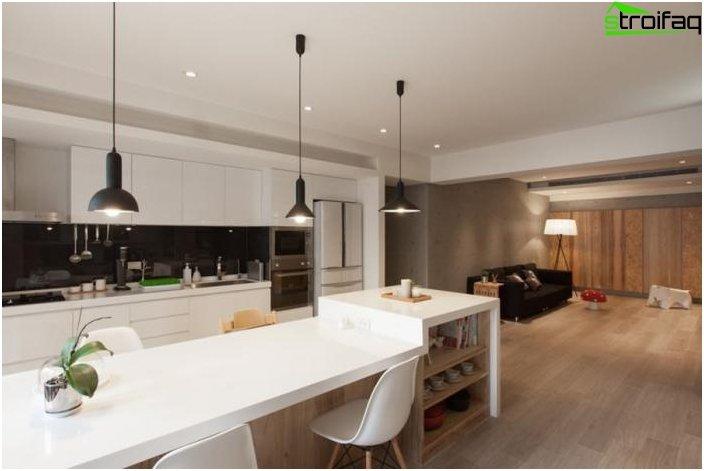Дизайн на кухня-хол 53