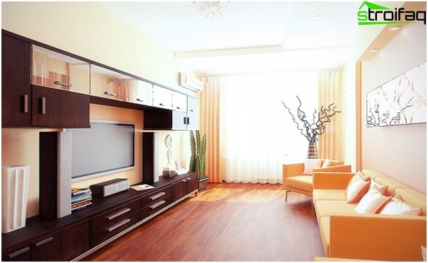 Design af lejligheden 2016 (to-værelses lejlighed) - 2