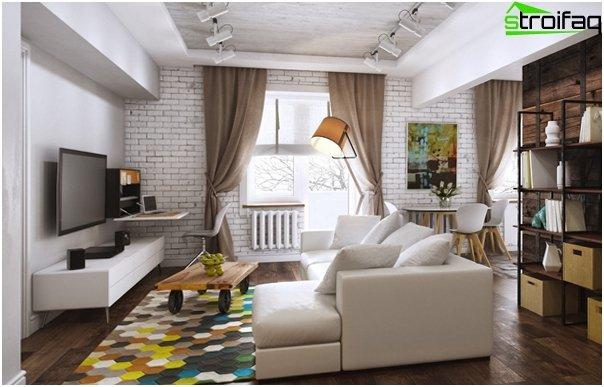 Design af lejligheden 2016 (Khrushchev) - 2