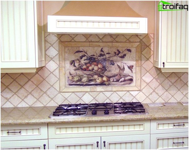 Fliesen für die Küche (diagonale Verlegung) - 3
