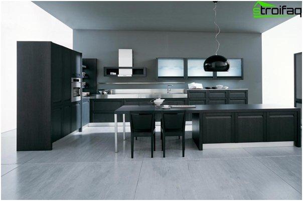 Køkken i minimalistisk stil - 1
