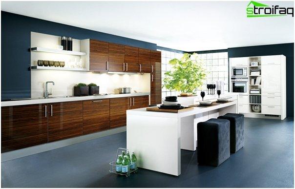 Køkken i minimalistisk stil - 5