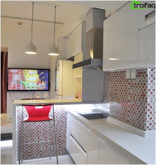 Fliesen im Inneren der Küche (Mosaik) - 1