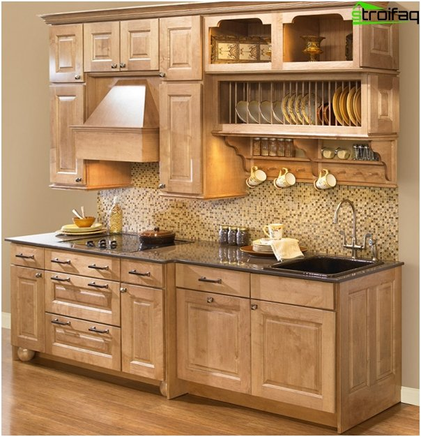 Fliesen im Inneren der Küche (Mosaik) - 2