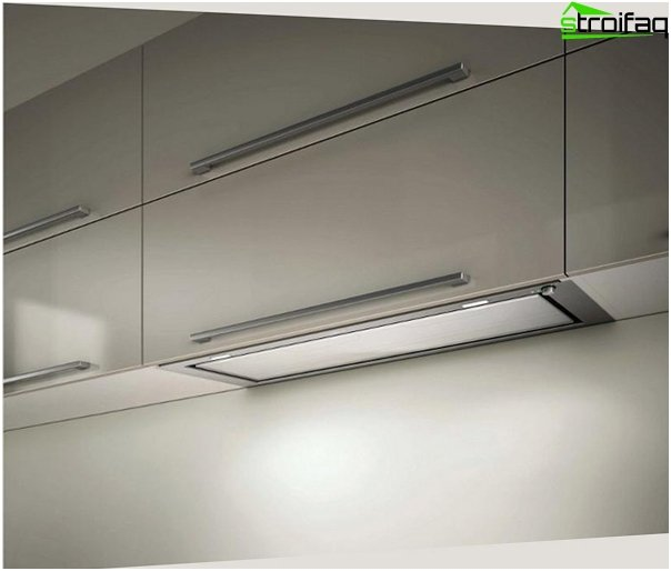 Built-in hood for the kitchen - 2