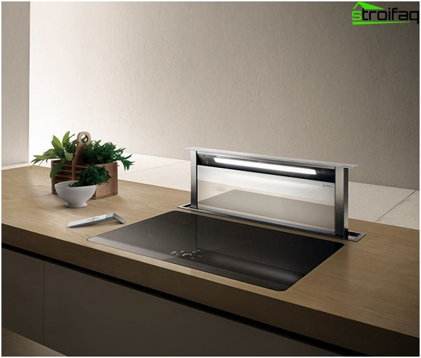 Built-in hood for the kitchen - 5