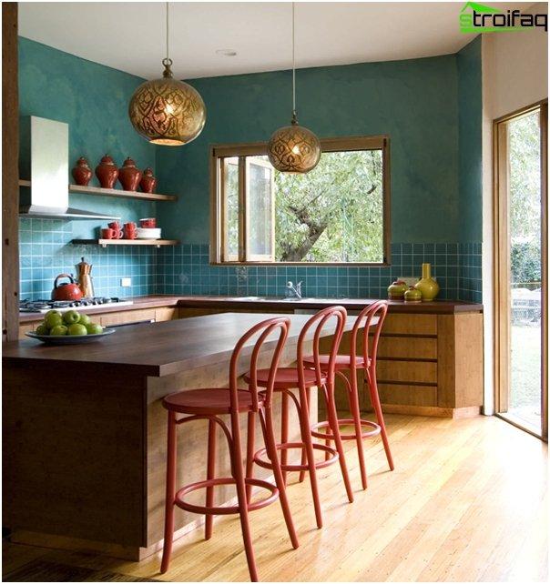 Fliesen im Innenraum der Küche (Kombination) - 1