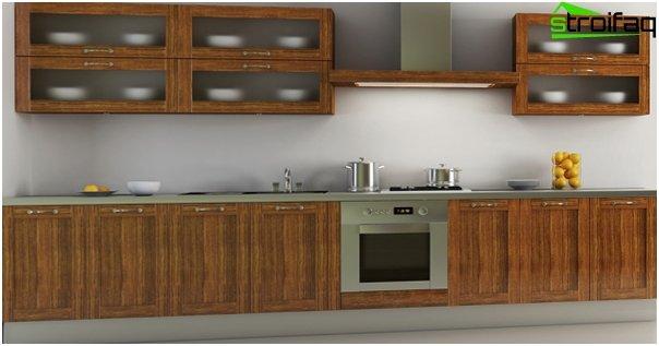 Ikean keittiökalusteet (lineaarinen asettelu) - 1