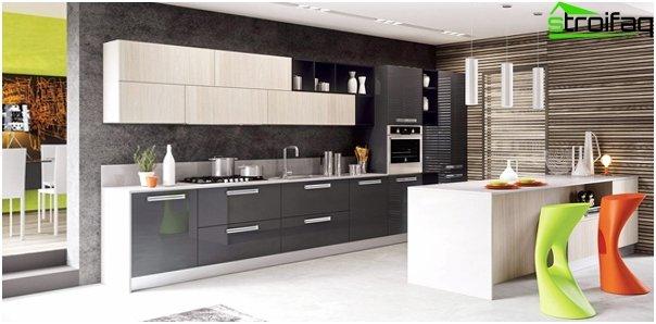 Ikean keittiökalusteet (lineaarinen asettelu) - 3