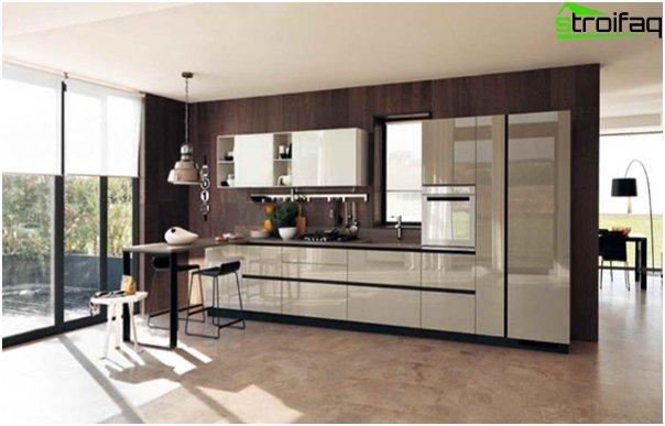 Ikean keittiökalusteet (lineaarinen asettelu) - 4