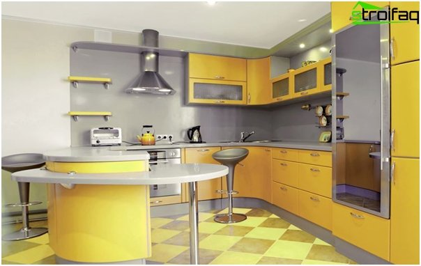 Kitchen in yellow tones - 1