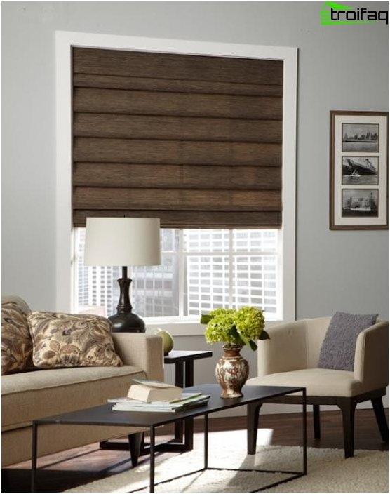 Wooden roller blinds - photo 1
