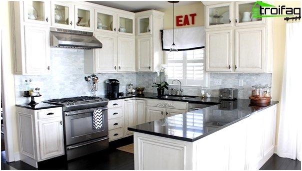 กระเบื้องในการตกแต่งภายในของห้องครัว (ด้วยมือของคุณเอง) - 3