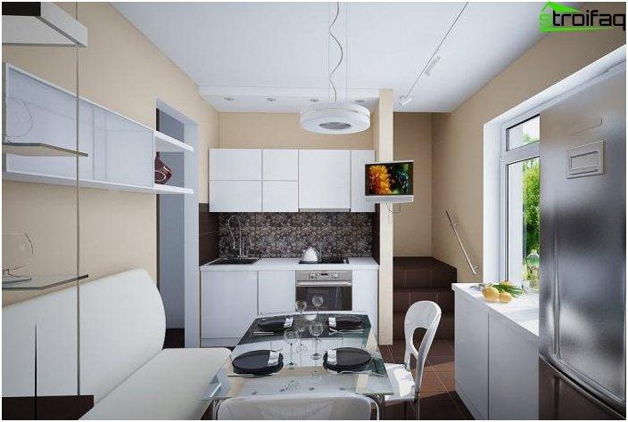Spisebord i køkkenet: foto 1