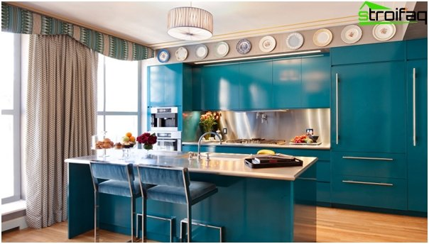 Furniture for kitchen in blue tones - 4
