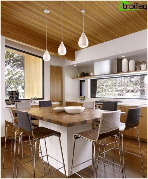 Spisebord i køkkenet: foto 2