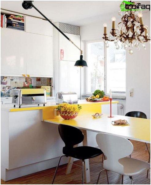 Spisebord i køkkenet: foto 5