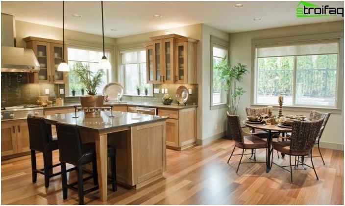 Spisebord i køkkenet: foto 6