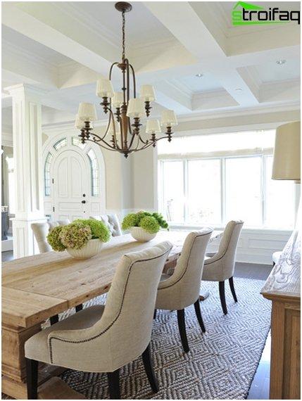 Spisebord i stuen: foto 1