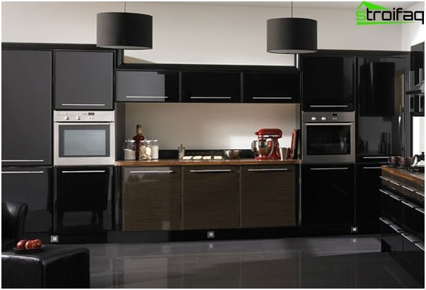 Furniture for the kitchen in dark colors - 6