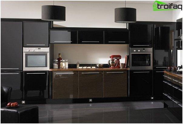Møbler til køkkenet i mørke farver - 6