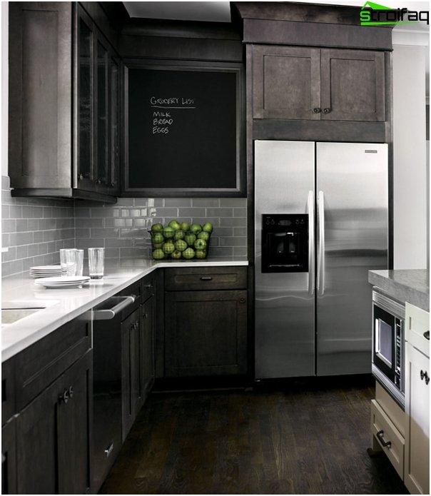 Kitchen furniture in dark colors - 7