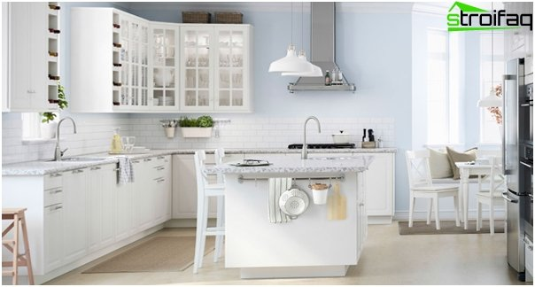 Valkoinen keittiö valmistajalta Ikea - 1