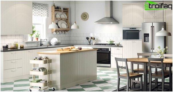 Valkoinen keittiö valmistajalta Ikea - 2