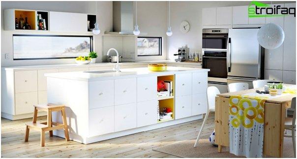 Valkoinen keittiö valmistajalta Ikea - 3