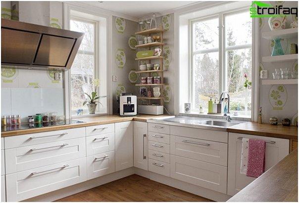 Ikean keittiökalusteet (valkoinen) - 1