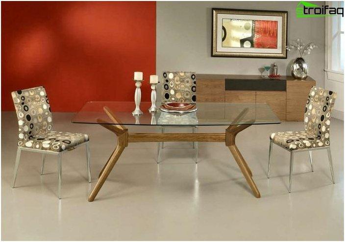 Rektangulær form Spisebord - 1