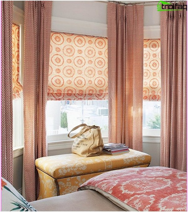Römische Vorhänge aus Baumwolle - 7